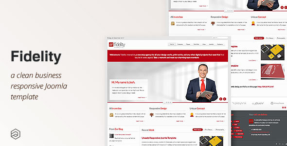 Fidelity - Responsive Business Joomla Template by arrowthemes