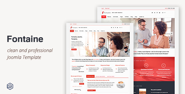 Fontaine - Responsive Business Joomla Template by arrowthemes