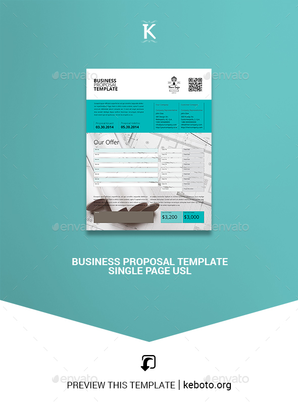Business Proposal Template Graphics, Designs  Templates