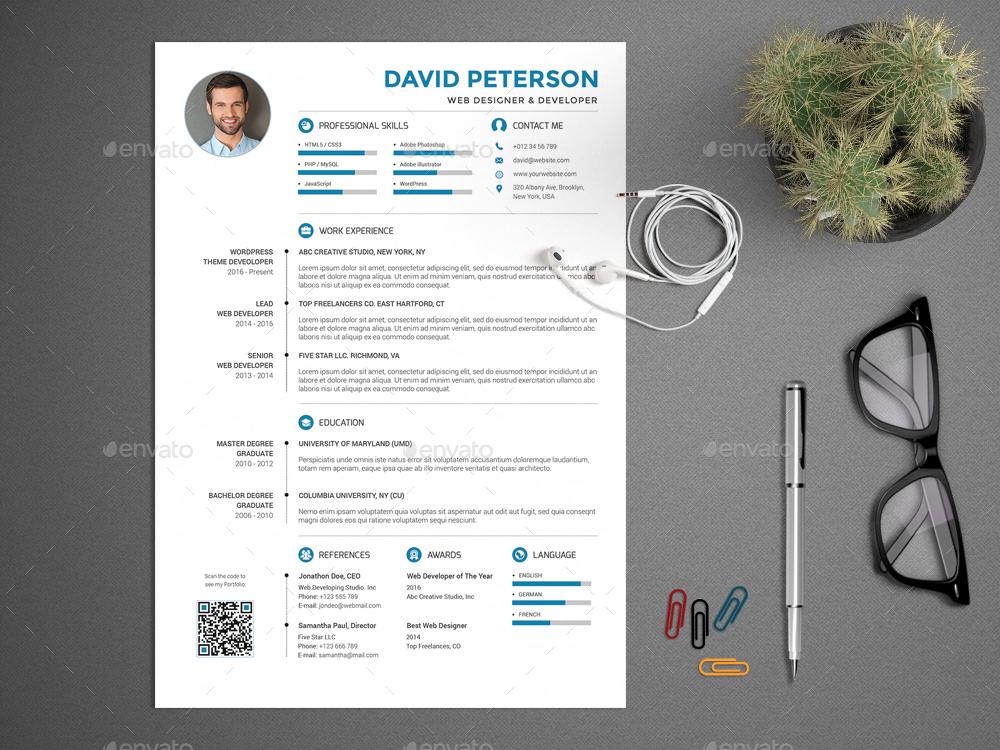 Resume CV Set by PROFIVE GraphicRiver
