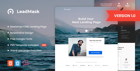 LeadMask - Business HTML Landing Page Template by Morad ThemeForest