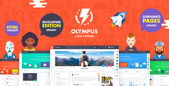 Olympus - HTML Social Network Toolkit by Crumina ThemeForest