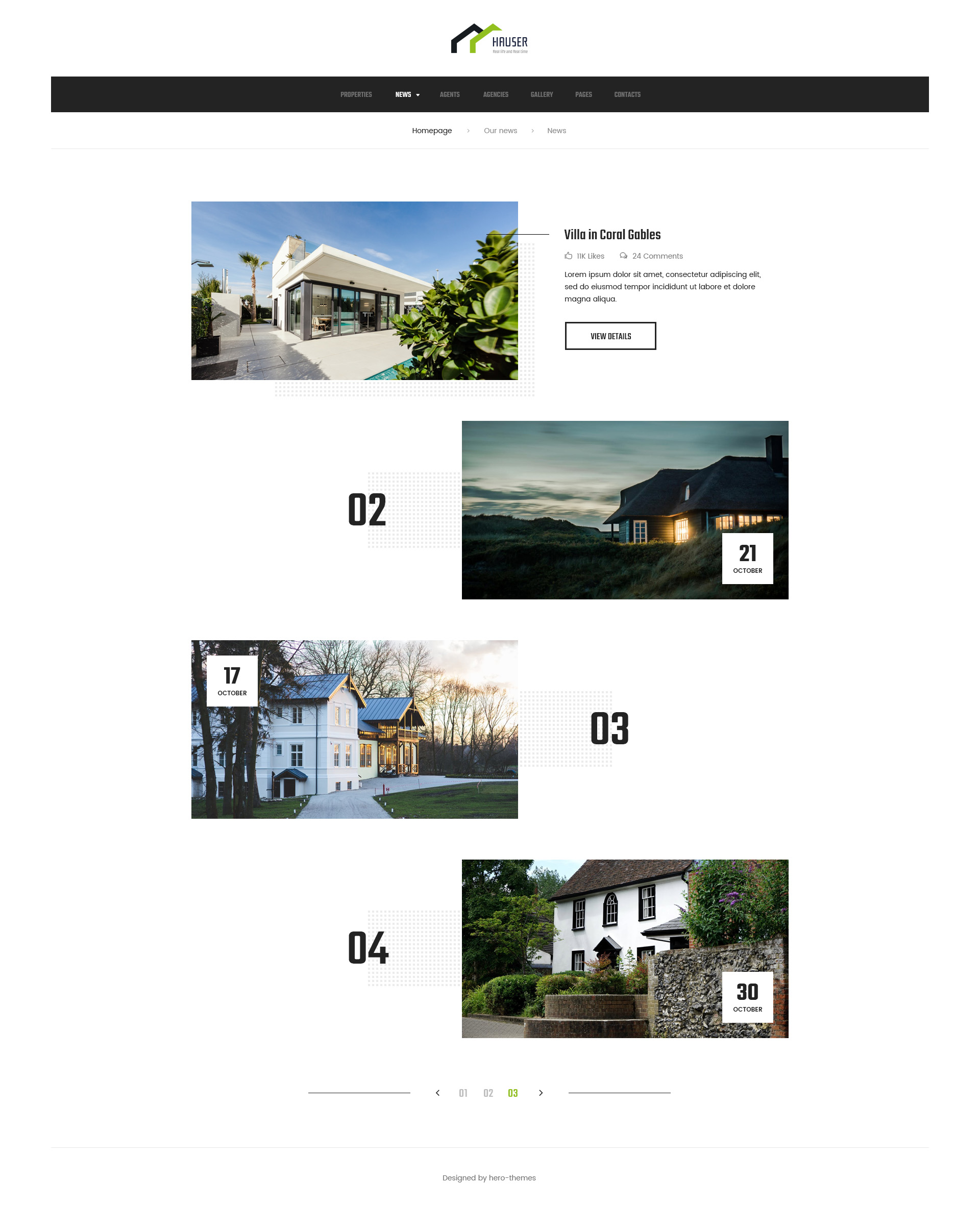 Häuser 24 Hauser Real Estate Psd Template