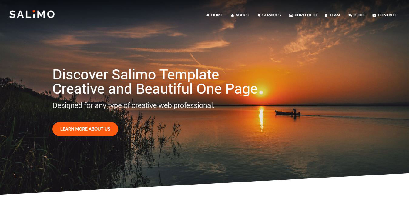 Beautiful One Salimo One Page Parallax