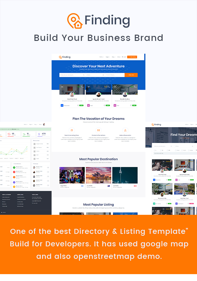 Finding - Directory  Listings HTML Template by themezhub ThemeForest