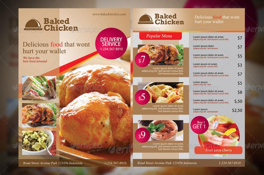 Modern Restaurant Food Menu Flyer Template by armithmedia GraphicRiver