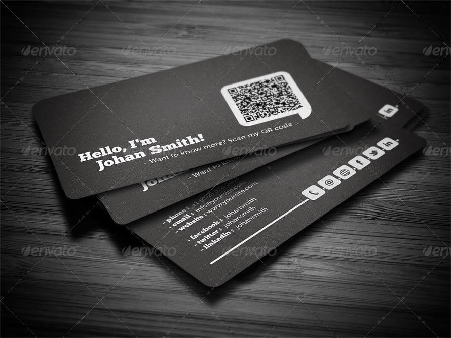 Social QR Code Business Card by FlowPixels GraphicRiver