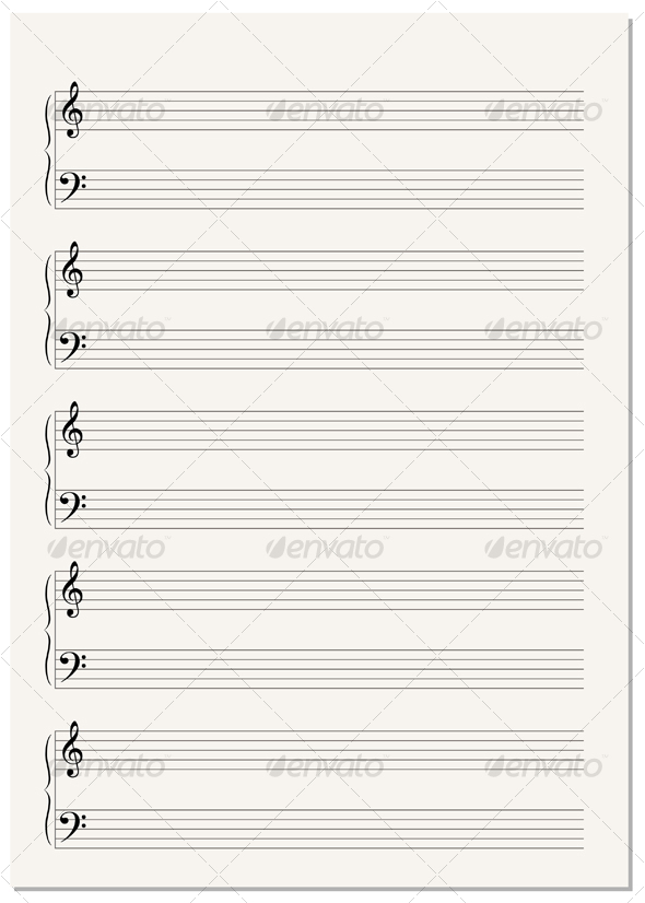 Music Notation Paper Sheet by VectorTradition GraphicRiver