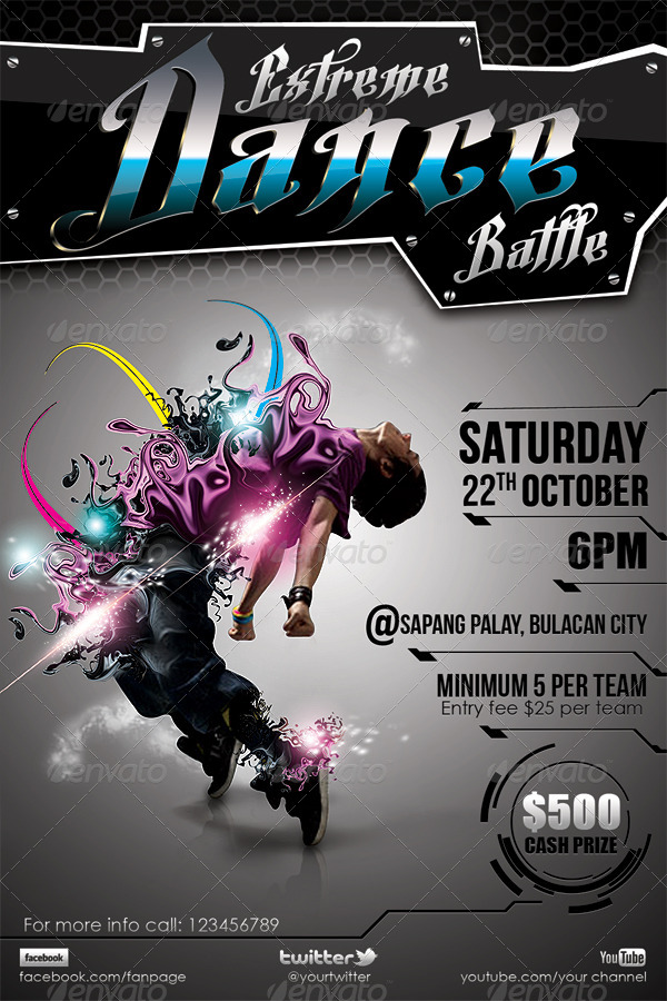 dance poster template - Minimfagency - competition flyer template