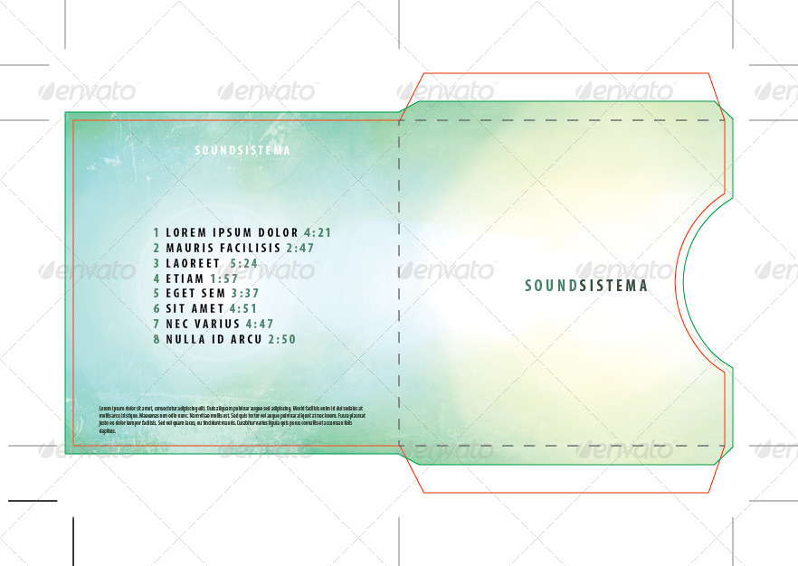 Single CD/DVD Disc Sleeve Template by centmillionaire GraphicRiver