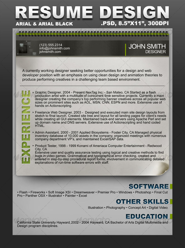 Creative Resume Template by scarab13 GraphicRiver - resume templates creative