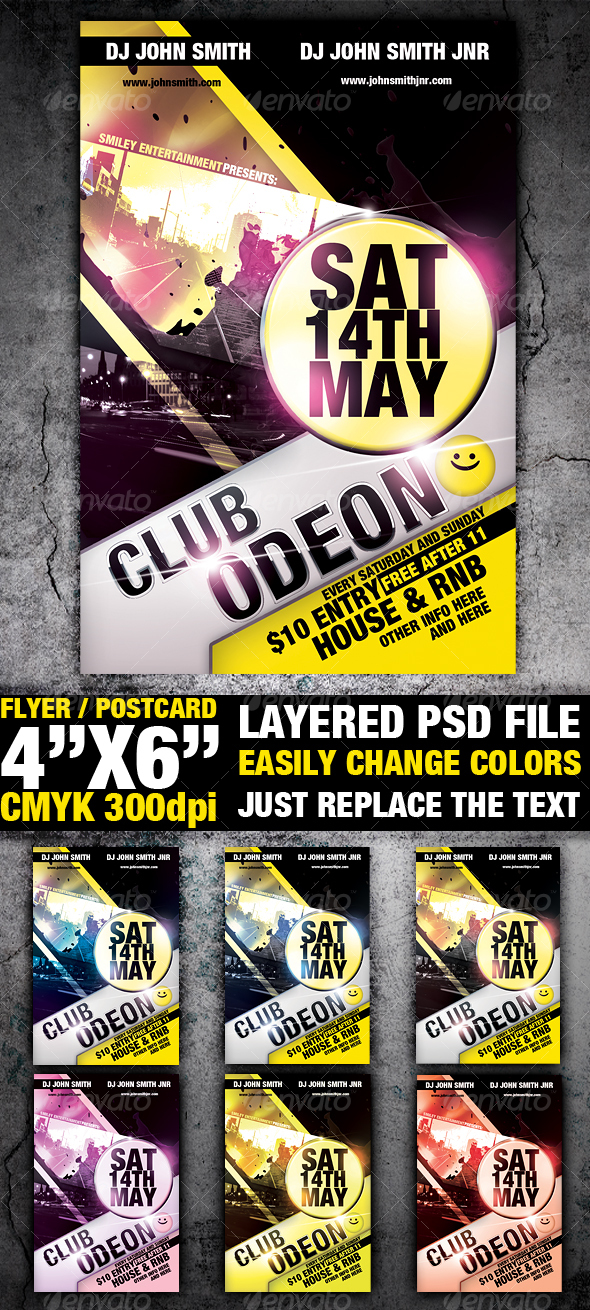 Club Flyer Template by sevenstyles GraphicRiver