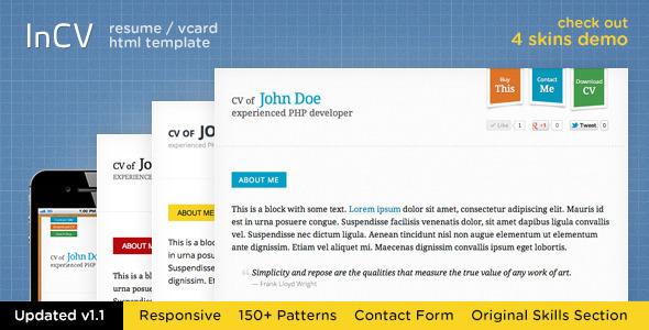 themeforest html templates responsive resume
