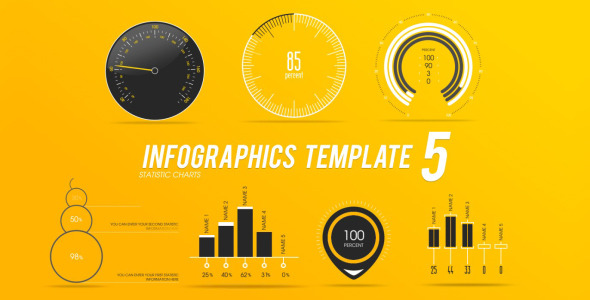 Infographics Template 5 by PerryCox VideoHive