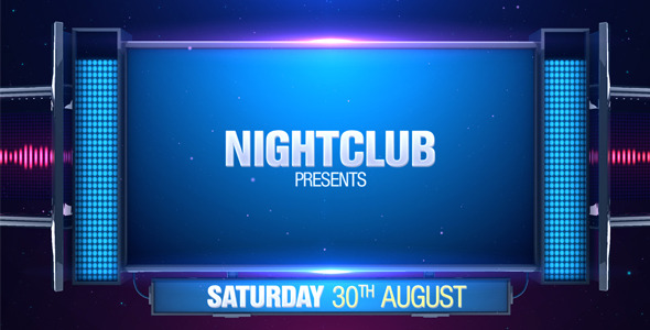 Night Club Promo by Motionkof VideoHive - club flyer background