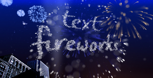 Text Fireworks by steve314 VideoHive