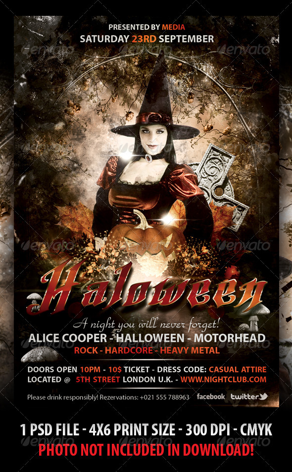 Halloween Party FLyer by Fadeink GraphicRiver