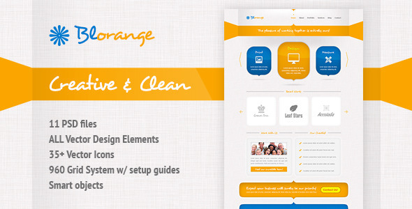 Blorange Multipurpose Creative Template by mihaai ThemeForest - templates
