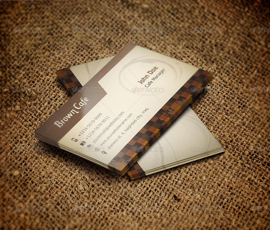 Coffee Shop Business Card Template by OWPictures GraphicRiver