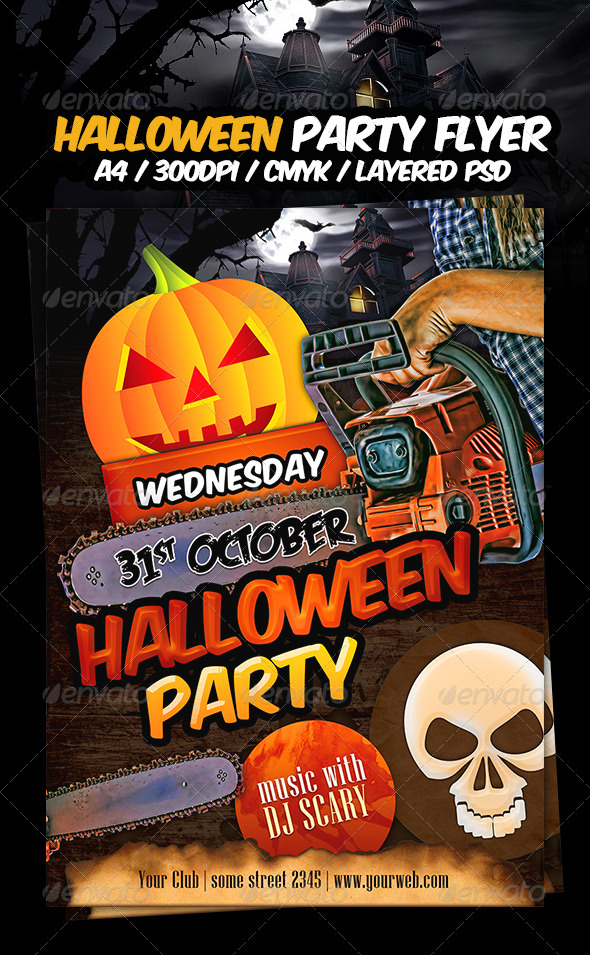 Halloween Party Flyer Template by dodimir GraphicRiver