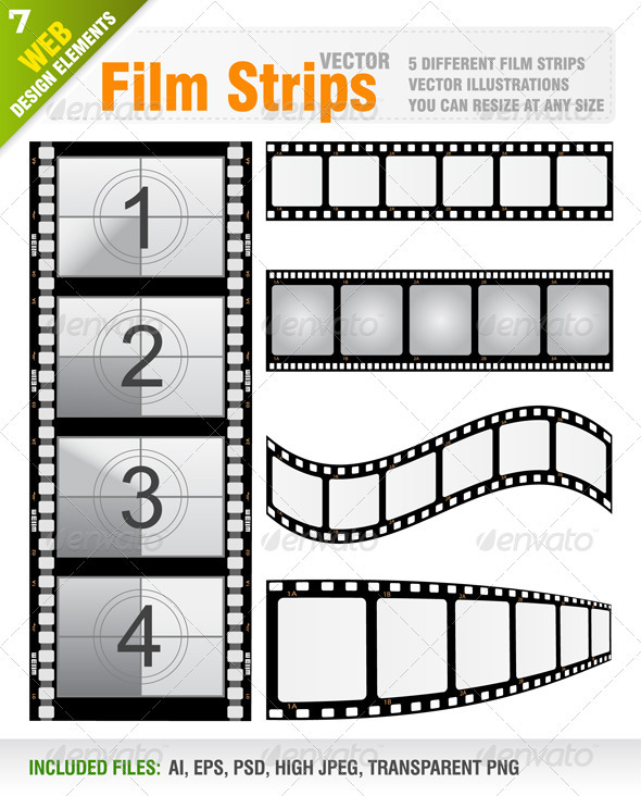 Vector Film Strips by Jackrust GraphicRiver