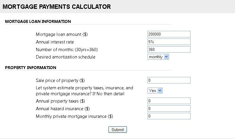 Mortgage loan Calculator with Extra Payments by jlords CodeCanyon - amortization calculator extra payment