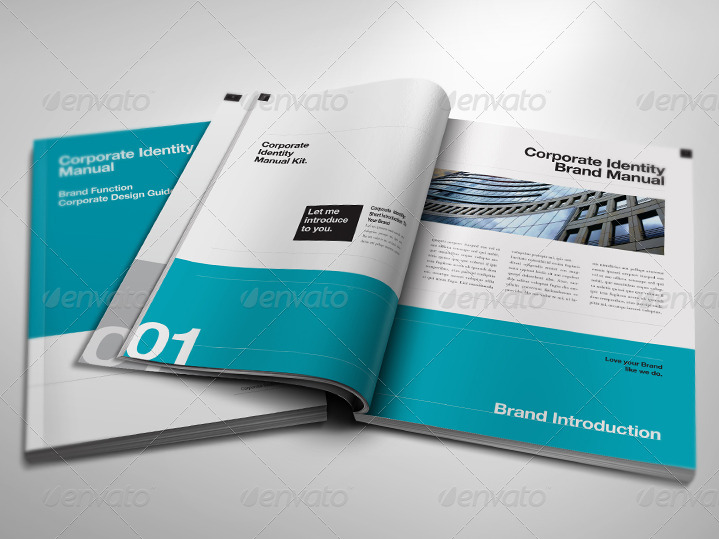 Corporate Design Manual Guide DIN A4   24 Pages by egotype - manual design templates
