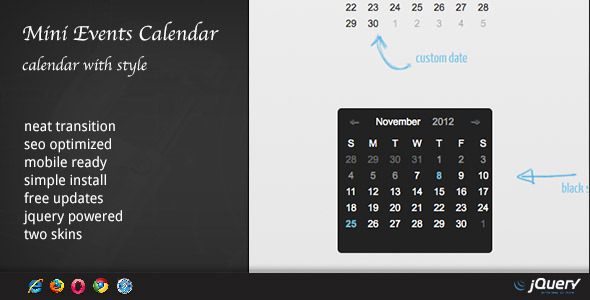 DZS jQuery Mini Events Calendar by ZoomIt CodeCanyon
