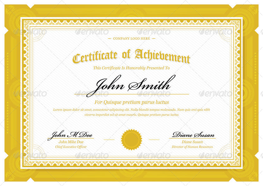 Modern Classy diploma award Certificate by bnrcreativelab GraphicRiver - Diploma Wording
