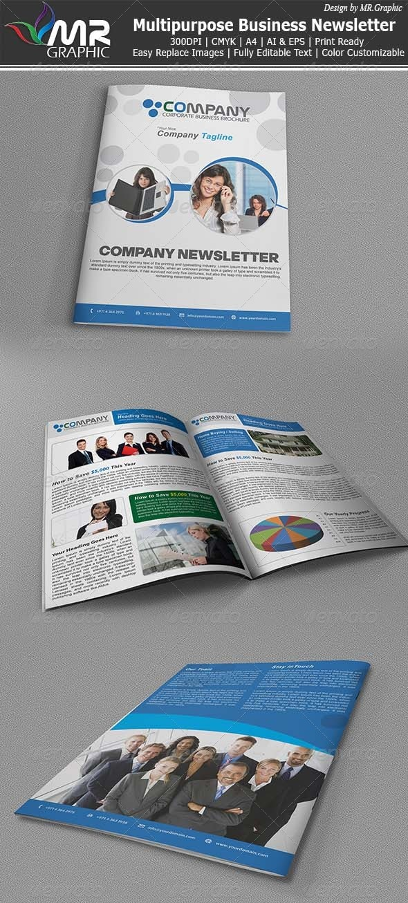 Modern Font Company Newsletter Templates from GraphicRiver