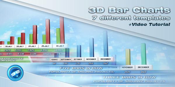 3D Bar Chart Templates by srdjanz VideoHive