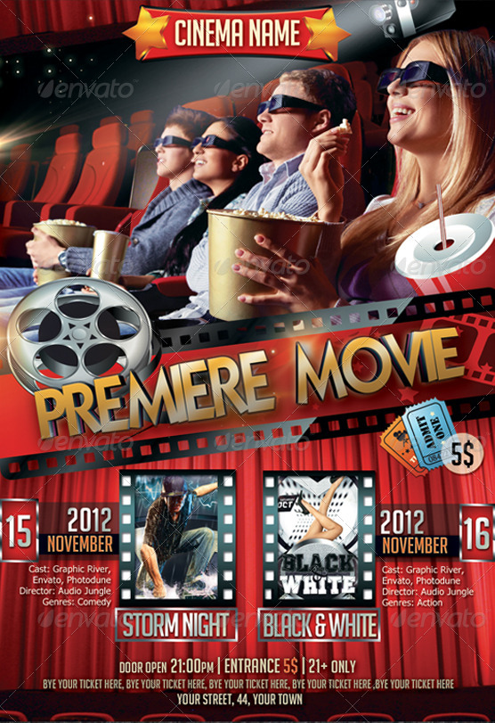 Premiere Movie Flyer Bundle 2in1 by NewEntryDesign GraphicRiver