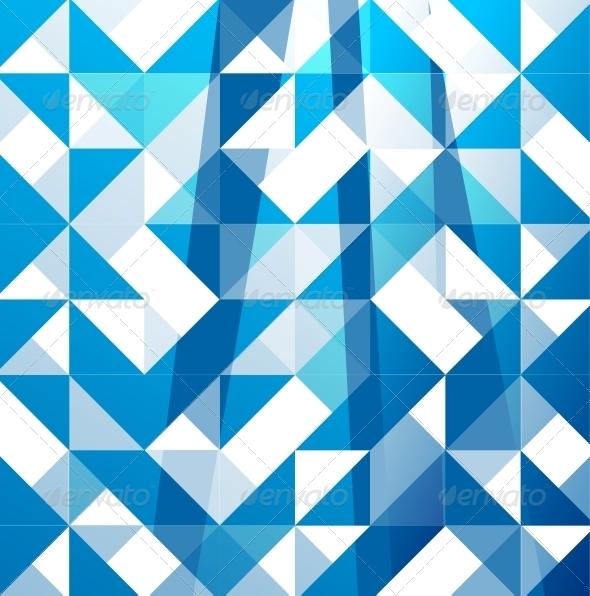 Blue Modern Geometric Design Background by antishock GraphicRiver