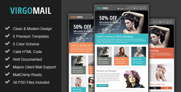Virgomail - Email Marketing  Newsletter Template by pophonic