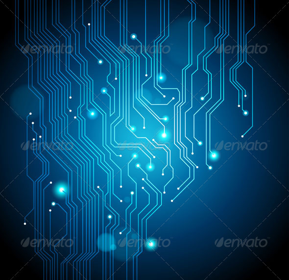 Abstract Circuit Board Background by silvertiger GraphicRiver - circuit design background