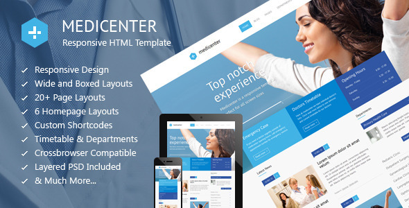 MediCenter - Health Medical Clinic Template by QuanticaLabs