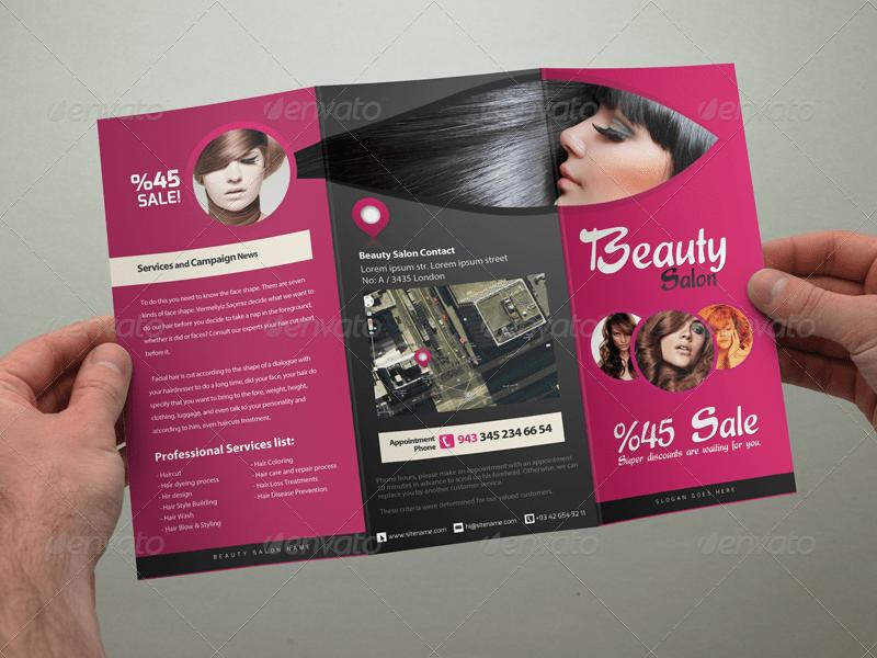 Hair Salon Brochure Templates Costumepartyrun