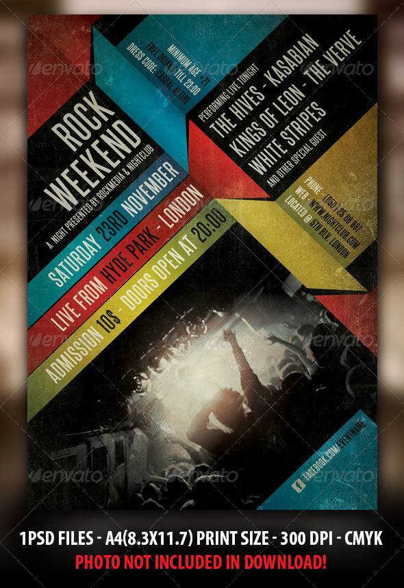 Modern Concert Flyer Templates from GraphicRiver