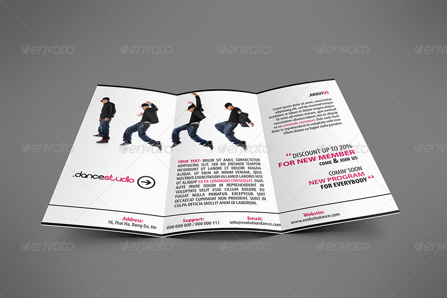 Street Art Brochure Tri-fold by hoanggiang12 GraphicRiver - studio brochure