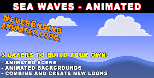 Sea Waves Animated HD by KrazyKartoons VideoHive
