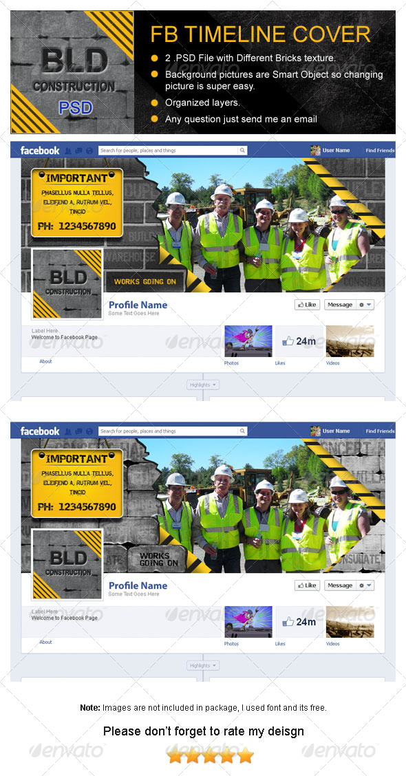 Building Construction Fb Timeline Cover by GraphicsWings - construction timeline