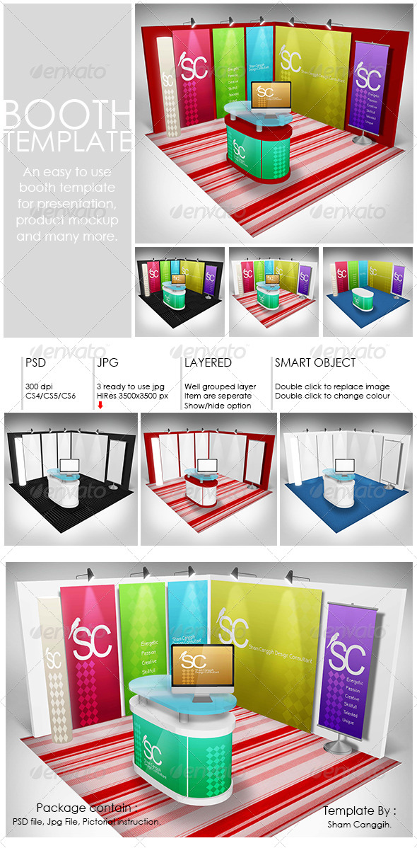 Booth Template Part 1 by shamcanggih GraphicRiver - po booth template