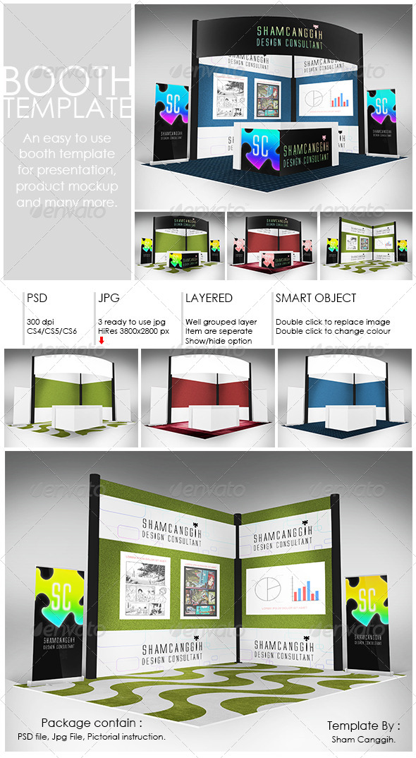 Booth Template Part 2 by shamcanggih GraphicRiver - po booth template