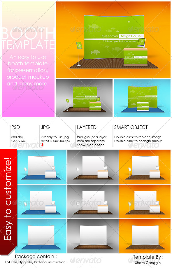 Booth Template Part 6 by shamcanggih GraphicRiver - po booth template