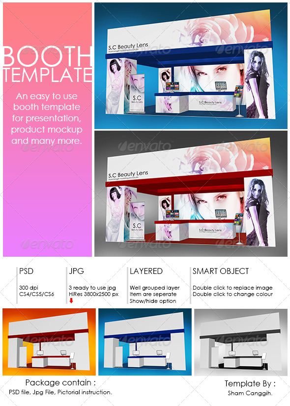 Booth Template Part 4 by shamcanggih GraphicRiver - po booth template