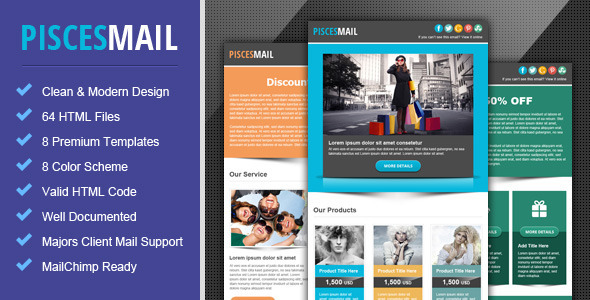 Piscesmail - Email Newsletter Template by pophonic ThemeForest