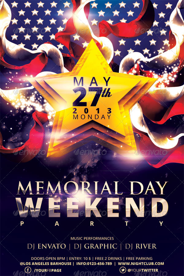 memorial day flyer template free - Jolivibramusic - labour day flyer template