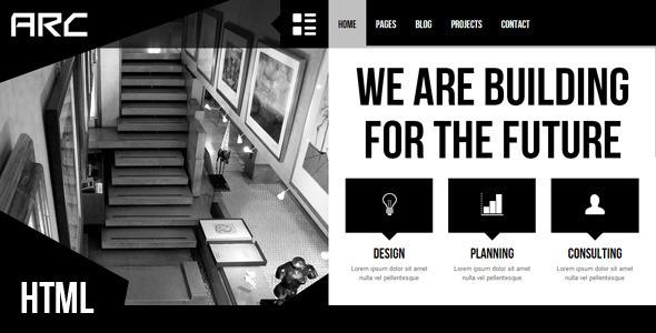 Arc - Responsive Architect Business Template by egemenerd ThemeForest