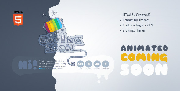Coming Soon Machine - Animated HTML5 Template by Kontramax ThemeForest