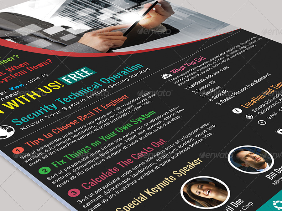 Security Seminar and Event Flyer by arvaone GraphicRiver - seminar flyer
